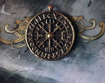 Vegvisir colgante, talismán de viking, pagan jewerly