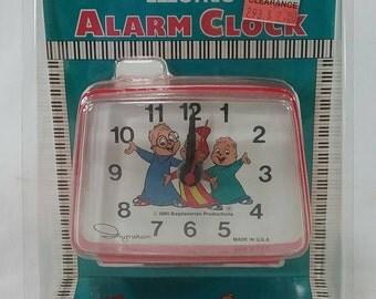 Vintage NOS alvin and the chipmunks kids alarm clock