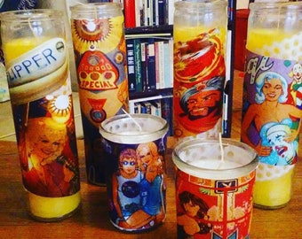 Pinball Prayer Candles