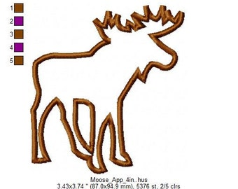 Applique Moose Design