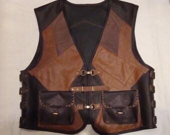 Vest Bikerkutte Leather XL