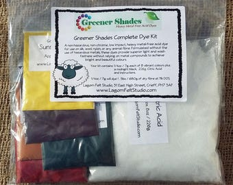 Greener Shades Complete Dye Kit - Environmentally Friendly - Heavy Metal Free