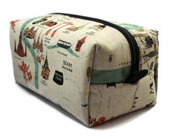 Boxy Bag -Toiletry Bag - Dopp Kit -Travel Bag -Makeup Bag - Accessory Bag - Wash Bag - Wet Bag - Rifle Paper Co - City Maps