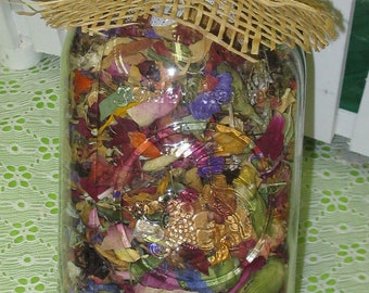 Dried Flower Potpourri - Mason Jar Decor - Mixed Dried Flowers - Wedding Toss - Centerpiece - Rustic Home Decor - Dried Flower Confetti