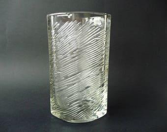 RARE vase - Frantisek Vizner - SKLO UNION - Czech / Bohemian Pressed Glass