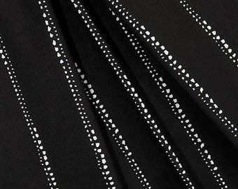 Minimalist Stripe Black & White Fabric by the Yard Designer Cotton Drapery Fabric Curtain Fabric Upholstery Fabric Home Decor Fabric B375