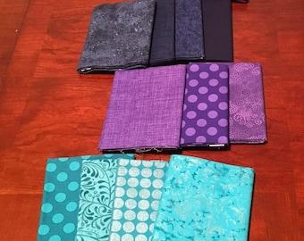 Fat quarter bundle of assorted fabrics