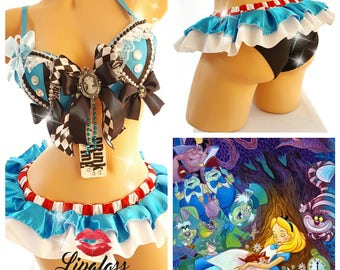 Sexy Alice in Wonderland Costume, Rave Costume, Beyond Wonderland, Rave Outfit, Sexy Halloween Costume, EDC Outfit