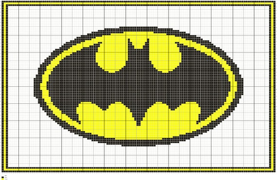 Knitting Chart Symbols Pdf : Knit batman symbol graph intarsia knitting chart pattern