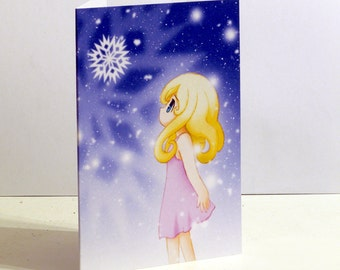 Falling Snow Christmas Card