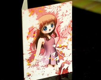 Cute Girl Greetings Card
