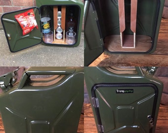 Upcycled Jerrycan Jerry can mini bar recycled man cave gift