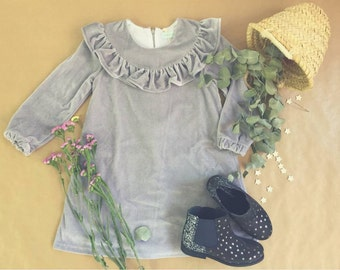 Vintage Dress, Silver Glitter Dress, Elegant glitter Dress, Toddler Girl Dress, Prom Dress, Party Dress, Size 4,6 and 8 Years