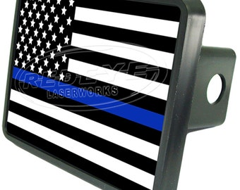 Police Flag Trailer Hitch Cover
