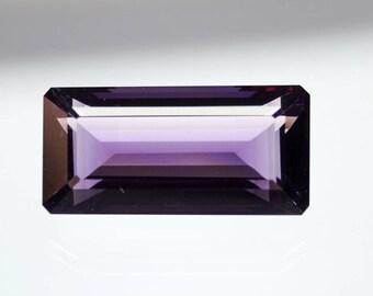 50% OFF Purple Amethyst Octagon Gemstone Faceted Amethyst Stone Nioe Purple Gemstone Emerald Cut Stone 27x13x11 mm