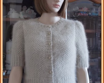 Sunrise of ANNY BLATT Angora vest