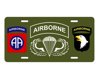 Airborne License Plate - 82nd - 101st