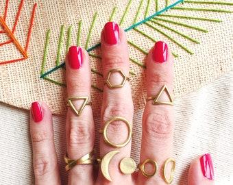 Open Circle Ring / Brass Circle Ring / Gold Open Circle Ring / Circle Ring / Minimalist Circle Ring