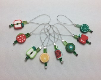 Fruity Knitting Stitch Markers - Set of 8