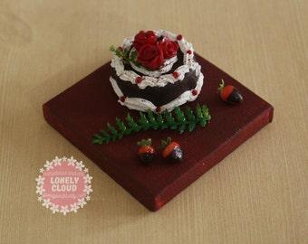 Miniature Black Forest Cake (Magnet!)