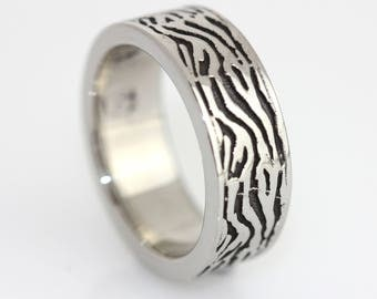 Stainless Steel 316L Wave Band Ring