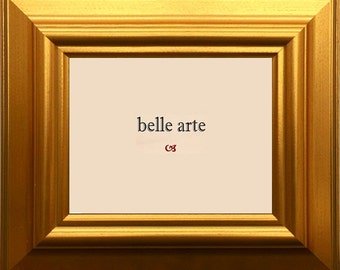 Classic Large Gold Picture Frame - Sizes 4x6 5x7 8x10 11x14 12x16 16x20 20x24 24x36 With Custom Sizes