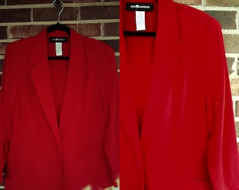 80s/90s Oversized Red Blazer, 14