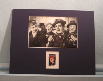 Lucille Ball and Desi Arnaz as the Ricardos in I Love Lucy and the Lucille Ball Stamp