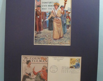 The Women's Suffrage Movement - March in New York for the Right to Vote & First Day Cover of its own stamp