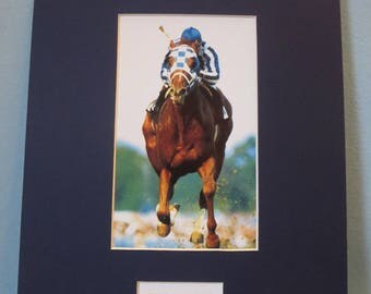 Triple Crown Winner Secretariat wins the Kentucky Derby and the stamp to honor Thoroughbred Horse Racing