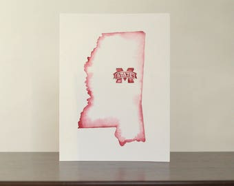 Mississippi State University Watercolor