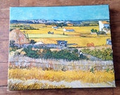 1970 Springbok 500+ piece Jigsaw Puzzle. The Harvest by Vincent Van Gogh. PZL 4023. Springbok Editions, Inc.