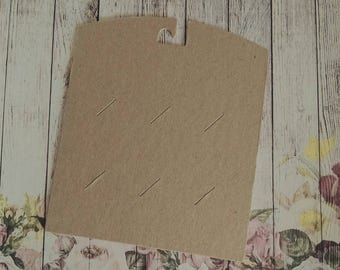 50 Blank 22pt Heavy Weight Chipboard Hair clip/ Barrette Cards 4x4.75, no personalization
