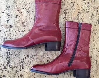 New burgundy boots  Vintage 1970's