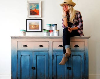 Rustic farmhouse sideboard!!