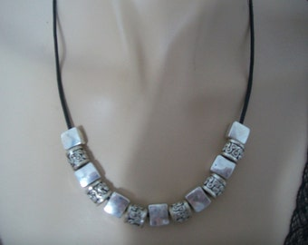 Necklace silver metal man or woman