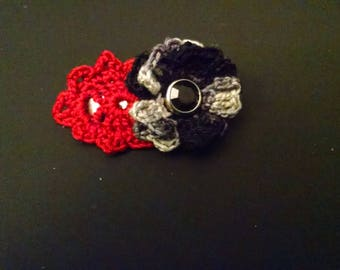 Black rose hair barrette