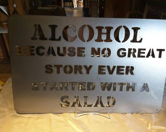 SN23 Alcohol because no great story ever started with a salad
