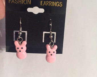 Marshmallow Bunny Earrings!!