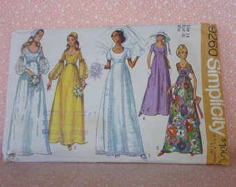 Vintage Simplicity Sewing Pattern #9260, Size 14