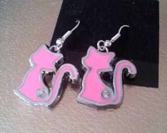 Kitty cat earrings.