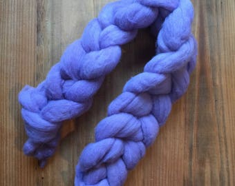 SALE- Naturally Dyed Light Purple Wool Roving