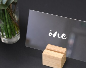 Modern Acrylic Table Numbers | Perspex Table Numbers | Wedding Decorations