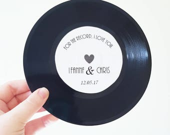 Vinyl Record Label Wedding Invitation Table Theme 50's 60's 70's 80's Decoration Retro Disco Vintage Rock n Roll Birthday Save the Date