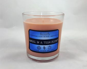 Angel in a Trench Coat -- Supernatural Inspired 8oz Scented Soy Candle