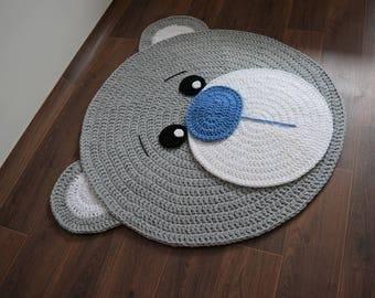 FÖRDERUNG! Viele Farben Weichen Bär Teppich Tapis Enfant Teppich Rund  Leicht Grau Kinderzimmer Boden Dekoration