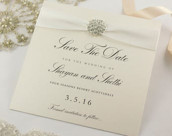 Diamante Save The Date Cards