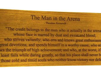The Man in the Arena plaque