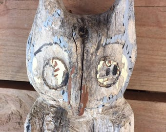Vintage Rustic Garden Owl