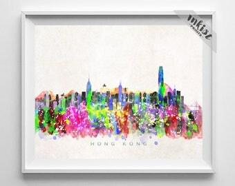 Hong Kong Skyline Etsy